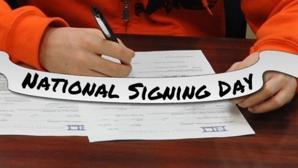 Signing the national letter of intent
